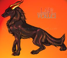 Lady Verlei the HellHound by krystle-tears