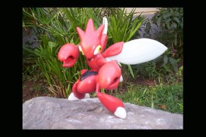 Scyther's evolution : SCIZOR by unicornstrike
