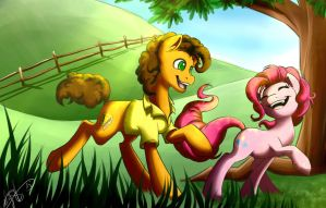 Pinkie pie and Cheese by Athyess