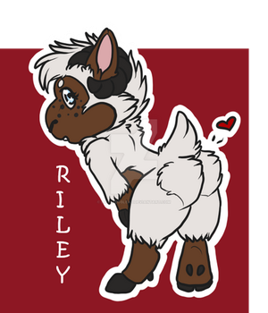 Riley Chibi Badge by LittleBoBleat