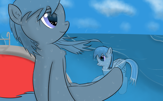 Two wind go to swim by Ghost3641