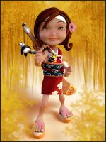 Little Kungfu girl by digitalrebelstudio