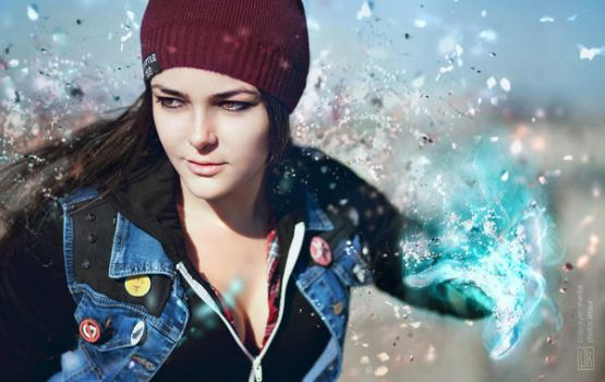 InFAMOUS: Delsin Rowe action by MarikaGreek