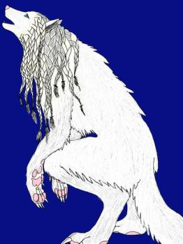 Werewolf woman by LadyShallandra