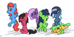 Art Trade 11 ~ Six-Pack of Friends by DoggonePony
