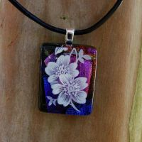 Blossom Collage Fused Glass by FusedElegance