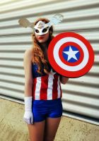 Lady CaptainAmerica by GlowingSnow