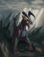 Dark Dragon by the-art-junky
