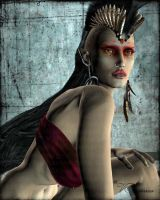 Red Raven by vaia