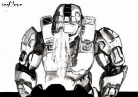 John and Cortana (Halo 3) (sketch) by seg0lene