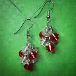 Lego Earrings - Red and Clear by Llyzabeth