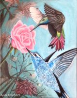 Two Humming Birds by AyshaArts