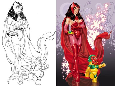 Scarlet Witch litho by diablo2003