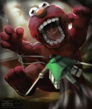 Shingeki no Elmo by Zinrius
