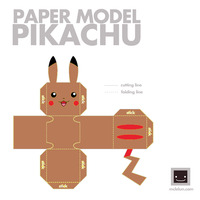 Brown (poop) Pika 3D by PikachuIsAwesomeCJ