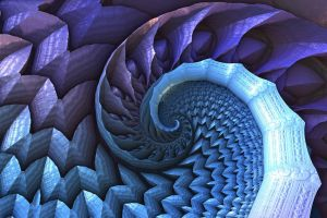 Blue Spiral by ellarien