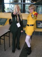 Seras and Integra by MephD