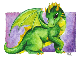 Green Baby Dragon by Mary1517