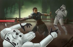 Starkiller - Force Unleashed by mylesillustration