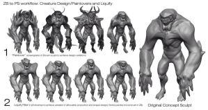 Eric  Chiang Creature Demo PT 2 by BADARTHELPCENTER