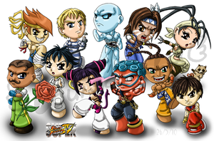 Super Street Fighter 4 by louisalulu