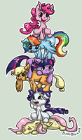 Stack of Ponies by BubblyBlackbird