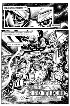Anubis - Page 1 (black and white) by Simon-Williams-Art