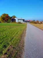 Country road and beautiful panorama by patrickjobst