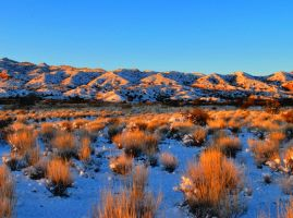 snowy desert sunrise by honda-vfr
