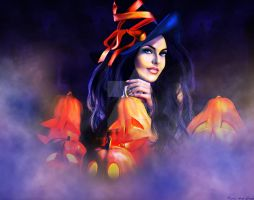 Jack-O-Lantern Witch by KerriAnnCrau