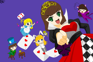 me and my freinds in wonderland by NAMIHATAKE6