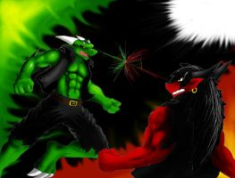 Friendly fight colored by Noicem