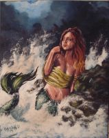 Mirah Mermaid my painting by cliford417