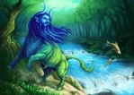 Aqueloo, God of the River by JaviRGRAPHICS