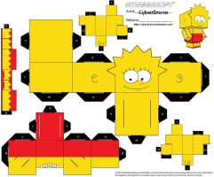 Cubee - Lisa Simpson by CyberDrone