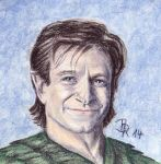 Robin Williams as Peter Pan  (Hook) by LoonaLucy