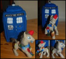 Whoof and the TARDIS by Launchycat