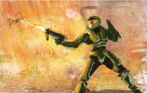masterchief speed by duxfox