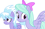 Flitter and Cloudchaser Unsure by GameMasterLuna