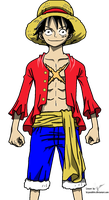 Luffy Post Time skip Colored by bryanaldrin