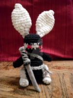 Ninja Bunny with Katana by CrochetHyperbole