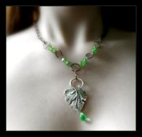 Celtic Elves - Leaf Necklace by Wilhelmine