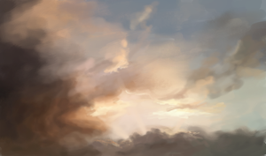 Sky Speed Paint by X3-chan