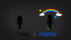 Think Positive HD Wallpaper by Samuels-Graphics