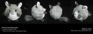 Round chinchilla plushie by Neon-Juma