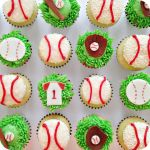 Baseball Mini Cupcakes by cake4thought