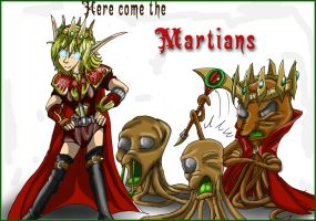 Here comes the martian fanart by Micgrol