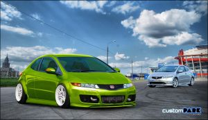 Civic Type R Green by ARTriviant