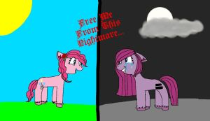 The 2 sides of pinkie pie by MlpOclover