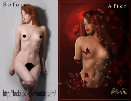before-after Red dream by Rafido